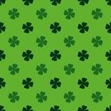 Il gioco, poker, black jack carda il simbolo Verde del modello del trifoglio Immagini Stock