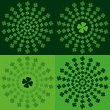 Il gioco, poker, black jack carda il simbolo Verde del modello del trifoglio Fotografia Stock Libera da Diritti
