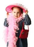 Il gioco prescolare della ragazza si veste in su Fotografie Stock Libere da Diritti