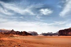 Il Giordano - rum dei wadi Immagini Stock Libere da Diritti
