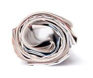 Il giornale accorciato in un tubo Fotografie Stock