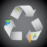 Il giornale ricicla Immagini Stock Libere da Diritti