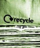 il giornale ricicla Fotografia Stock