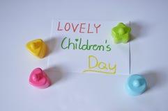 Il giorno dei bambini ADORABILI Immagine Stock Libera da Diritti