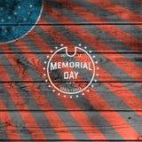 Il Giorno dei Caduti, il logos dei distintivi e le etichette per c'è ne usano Fotografia Stock Libera da Diritti