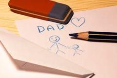 Il giorno dei padri felice Fotografie Stock