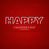 Il giorno del biglietto di S. Valentino felice Fotografia Stock