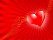 Il giorno del biglietto di S. Valentino, vector la priorità bassa astratta Fotografie Stock