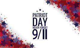 Il giorno del patriota, non dimentica mai 9/11 illustrazione di stock
