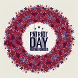 Il giorno del patriota, non dimentica mai 9/11 royalty illustrazione gratis