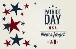 Il giorno del patriota, non dimentica mai 9/11 illustrazione vettoriale