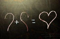 Il giorno del ` s del biglietto di S. Valentino è sul consiglio scolastico Immagini Stock