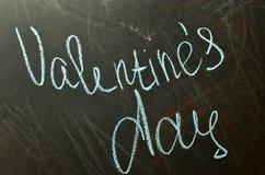 Il giorno del ` s del biglietto di S. Valentino è sul consiglio scolastico Immagine Stock Libera da Diritti