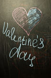 Il giorno del ` s del biglietto di S. Valentino è sul consiglio scolastico Fotografia Stock