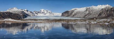 Il giorno dell'Islanda abbellisce il panorama Immagini Stock Libere da Diritti