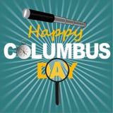 Il giorno della cartolina d'auguri a Columbus Fotografia Stock