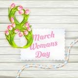 Il giorno della donna internazionale ENV 10 Immagine Stock Libera da Diritti