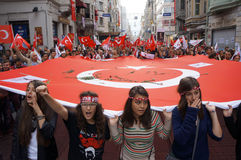 Il giorno della Repubblica ha celebrato in Turchia Fotografia Stock
