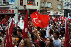 Il giorno della Repubblica ha celebrato in Turchia Fotografia Stock Libera da Diritti