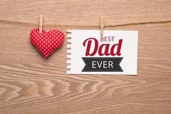 Il giorno di felice del padre della cartolina d'auguri Fotografie Stock