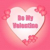 Il giorno di biglietti di S. Valentino è il mio Valentine Hearts royalty illustrazione gratis