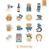 Il giorno di Patricks del san ha isolato l'insieme dell'icona Fotografia Stock Libera da Diritti