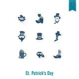 Il giorno di Patricks del san ha isolato l'insieme dell'icona Fotografia Stock