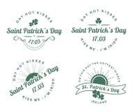 Il giorno di progettazione di St Patrick calligrafico degli elementi Fotografia Stock Libera da Diritti