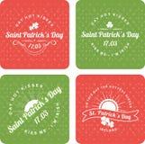 Il giorno di progettazione di St Patrick calligrafico degli elementi Immagine Stock Libera da Diritti