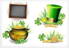 Il giorno di St Patrick - cartolina d'auguri di vettore Fotografie Stock Libere da Diritti