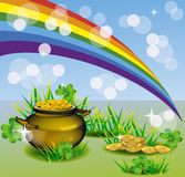 Il giorno di St Patrick - cartolina d'auguri di vettore Immagini Stock Libere da Diritti