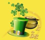 Il giorno di St Patrick - cartolina d'auguri di vettore Fotografia Stock Libera da Diritti