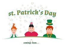 Il giorno di St Patrick che viene presto Fotografia Stock Libera da Diritti