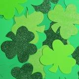 Il giorno di St Patrick. Fondo dell'acetosella Fotografia Stock Libera da Diritti
