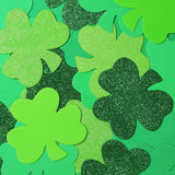 Il giorno di St Patrick. Fondo dell'acetosella Immagine Stock