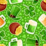 Il giorno di St Patrick verde senza cuciture del fondo illustrazione di stock