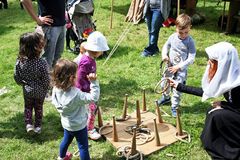 Il giorno di StGeorge, 10, giochi per i bambini, Zagabria 2016 Fotografia Stock