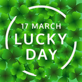 Il giorno di StPatrick felice, il 17 marzo Lucky Day, vettore Fotografia Stock