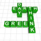 Il giorno di terra pensa il verde Royalty Illustrazione gratis