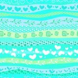 Il giorno di Valentin blu di amore ondeggia il fondo senza cuciture Immagine Stock Libera da Diritti