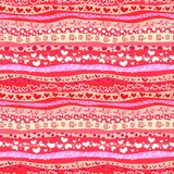 Il giorno di Valentin rosso di amore ondeggia il fondo senza cuciture Fotografie Stock