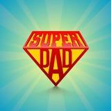 Il giorno eccellente del testo alla moda sul blu rays il fondo ` Felice s D del padre royalty illustrazione gratis