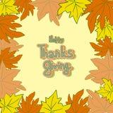 Il giorno felice di ringraziamento lascia la struttura Illustrazione Vettoriale