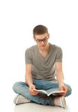 Il giovane allievo con il libro Fotografia Stock Libera da Diritti