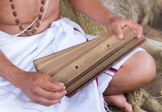 Il giovane brahmin legge lo scripture fotografie stock libere da diritti