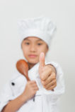 Il giovane cuoco unico fotografie stock