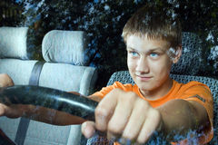 Il giovane driver Fotografia Stock