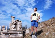 Il giovane esploratore Fotografie Stock Libere da Diritti