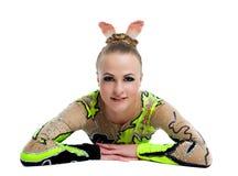Il giovane gymnast professionista si distende il ritratto   Immagine Stock Libera da Diritti