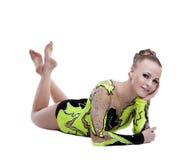 Il giovane gymnast professionista si distende il ritratto isolato Fotografie Stock
